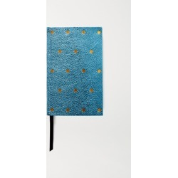 Smythson - Printed Metallic Textured-leather Notebook - Light blue found on Bargain Bro UK from NET-A-PORTER UK