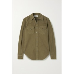 SAINT LAURENT - Herringbone Cotton Shirt - Green found on Bargain Bro India from NET-A-PORTER for $690.00