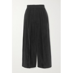Alice Olivia - Elba Cropped Cupro Wide-leg Pants - Black found on MODAPINS from NET-A-PORTER for USD $290.00