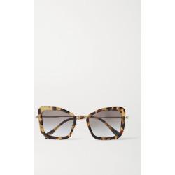 Miu Miu Eyewear - Oversized Cat-eye Tortoiseshell Acetate And Gold-tone Sunglasses - one size found on Bargain Bro UK from NET-A-PORTER UK