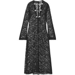 Alessandra Rich - Crystal-embellished Lace Maxi Dress - Black found on MODAPINS from NET-A-PORTER for USD $1206.00