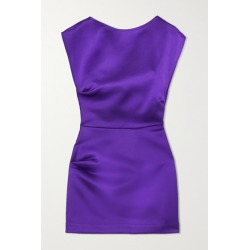 Georgia Alice - Lily Gathered Satin Mini Dress - Purple found on MODAPINS from NET-A-PORTER UK for USD $742.12