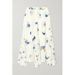 Nina Ricci - Printed Silk Crepe De Chine Midi Skirt - Ivory found on MODAPINS from NET-A-PORTER UK for USD $699.46