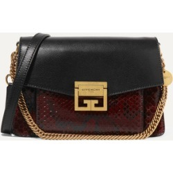 Givenchy - Gv3 Small Leather And Python Shoulder Bag - Black found on Bargain Bro UK from NET-A-PORTER UK