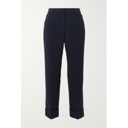 Akris - Cropped Wool-blend Straight-leg Pants - Navy found on MODAPINS from NET-A-PORTER UK for USD $838.12