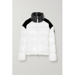 Moncler - Chouelle Velvet-trimmed Printed Quilted Glossed-shell Down Jacket - White found on Bargain Bro UK from NET-A-PORTER UK