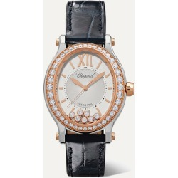 Chopard - Happy Sport Oval 29mm 18-karat Rose Gold, Stainless Steel, Alligator And Diamond Watch found on Bargain Bro Philippines from NET-A-PORTER for $15000.00