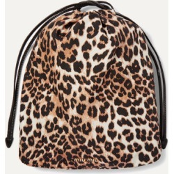 Miu Miu - Leopard-print Canvas Pouch - Leopard print found on Bargain Bro Philippines from NET-A-PORTER for $240.00