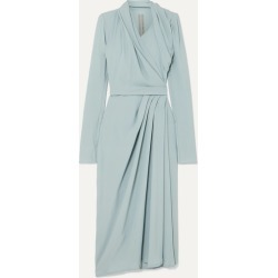 Rick Owens - Draped Crepe Wrap Dress - Light blue found on Bargain Bro UK from NET-A-PORTER UK