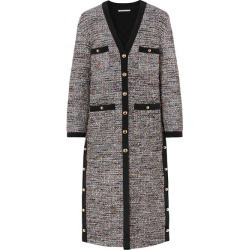 Alessandra Rich - Button-embellished Boulcé-tweed Cardigan - Gray found on MODAPINS from NET-A-PORTER UK for USD $3051.89