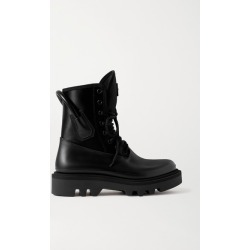 Givenchy - Combat Leather And Neoprene Ankle Boots - Black found on Bargain Bro UK from NET-A-PORTER UK