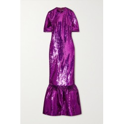Huishan Zhang - Kora Tiered Sequined Tulle Gown - Purple found on MODAPINS from NET-A-PORTER for USD $2905.00