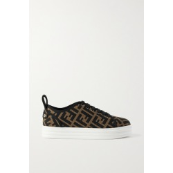 Fendi - Logo-jacquard Mesh Platform Sneakers - Brown found on MODAPINS from NET-A-PORTER UK for USD $812.18