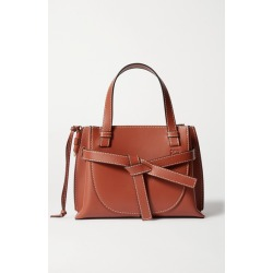 Loewe - Gate Mini Topstitched Leather Tote - Brown found on Bargain Bro UK from NET-A-PORTER UK