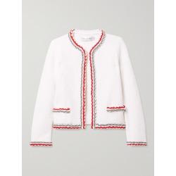Oscar de la Renta - Braided-trimmed Wool-blend Cardigan - Ivory found on MODAPINS from NET-A-PORTER UK for USD $2098.23