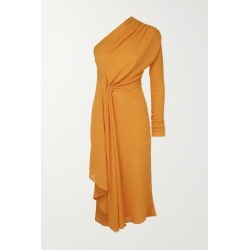 Dodo Bar Or - Hannah One-sleeve Draped Ribbed-knit Midi Dress - Orange found on MODAPINS from NET-A-PORTER for USD $169.50