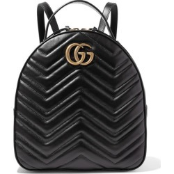 c3f84d45160 Gucci - Gg Marmont Quilted Leather Backpack - Black found on MODAPINS from  NET-A