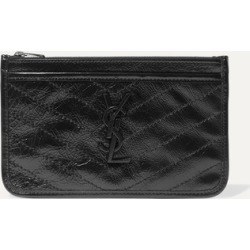 SAINT LAURENT - Niki Quilted Crinkled Glossed-leather Pouch - Black found on Bargain Bro UK from NET-A-PORTER UK