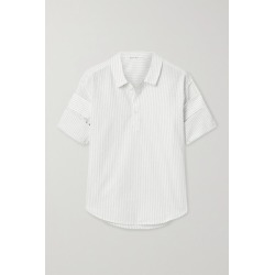 Alex Mill - Pinstriped Cotton And Linen-blend Shirt - Off-white found on MODAPINS from NET-A-PORTER for USD $50.00