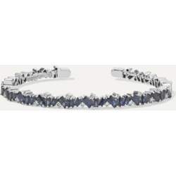 Suzanne Kalan - 18-karat White Gold, Sapphire And Diamond Cuff found on Bargain Bro Philippines from NET-A-PORTER for $6000.00