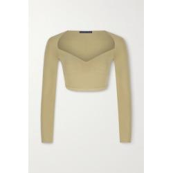 Zeynep Arçay - Cropped Stretch-knit Top - Beige found on Bargain Bro UK from NET-A-PORTER UK