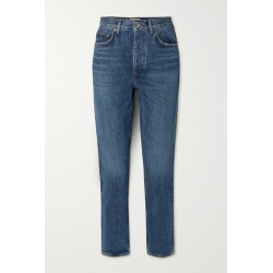 AGOLDE - Riley Cropped High-rise Straight-leg Jeans - Blue found on Bargain Bro UK from NET-A-PORTER UK