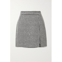 Alessandra Rich - Sequin-embellished Houndstooth Tweed Mini Skirt - Black found on MODAPINS from NET-A-PORTER UK for USD $593.03