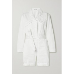 Alex Mill - Expedition Belted Cotton-blend Poplin Playsuit - White found on MODAPINS from NET-A-PORTER UK for USD $245.79