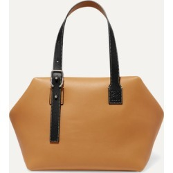 Loewe - Cube Two-tone Leather Tote - Tan found on Bargain Bro UK from NET-A-PORTER UK