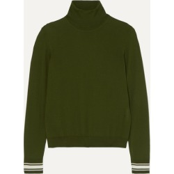 Golden Goose - Striped Merino Wool-blend Turtleneck Sweater - Green found on Bargain Bro UK from NET-A-PORTER UK