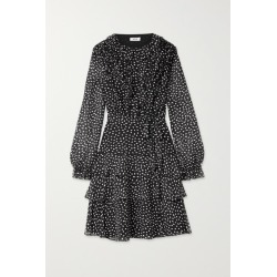 Jason Wu - Belted Ruffled Polka-dot Silk-crepon Dress - Black found on MODAPINS from NET-A-PORTER UK for USD $770.41