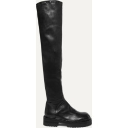 Ann Demeulemeester - Over-the-knee Leather Boots - Black found on MODAPINS from NET-A-PORTER UK for USD $1639.88