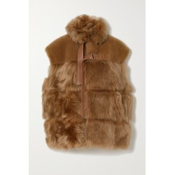 Chloé - Leather-trimmed Shearling Vest - Brown found on Bargain Bro UK from NET-A-PORTER UK