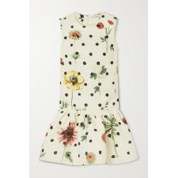 Oscar de la Renta - Ruffled Printed Faille Mini Dress - Ecru found on MODAPINS from NET-A-PORTER UK for USD $2890.70