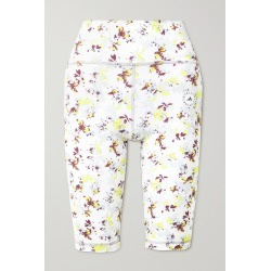ADIDAS BY STELLA MCCARTNEY - Trueperformance Floral-print Stretch Recycled Shorts - White found on Bargain Bro from NET-A-PORTER for USD $68.40