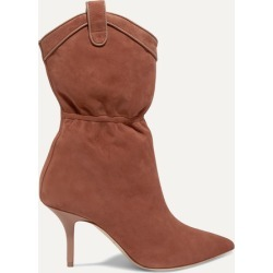 Malone Souliers - Daisy 70 Suede Ankle Boots - Tan
