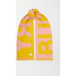 Burberry - Fringed Two-tone Intarsia Wool Scarf - Pink found on Bargain Bro Philippines from NET-A-PORTER for $300.00
