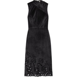 Alice Olivia - Kiana Velvet And Lace Dress - Black found on MODAPINS from NET-A-PORTER for USD $485.00