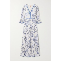Le Sirenuse Positano - Bella Tiered Printed Cotton-voile Maxi Dress - Blue found on MODAPINS from NET-A-PORTER for USD $527.94