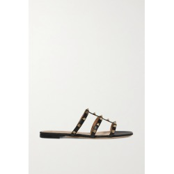 Valentino - Valentino Garavani Rockstud Leather Sandals - Black found on Bargain Bro India from NET-A-PORTER for $675.00