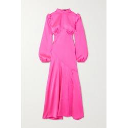 De La Vali - Clara Paneled Satin Dress - Bright pink found on MODAPINS from NET-A-PORTER for USD $775.00