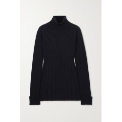 Chloé - Ribbed Wool And Silk-blend Turtleneck Sweater - Navy found on Bargain Bro UK from NET-A-PORTER UK