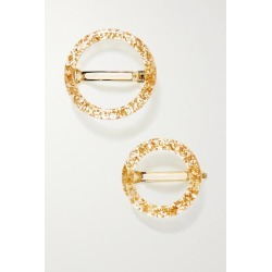 Cult Gaia - Ria Set Of Two Acrylic Hair Clips - Gold found on Bargain Bro UK from NET-A-PORTER UK