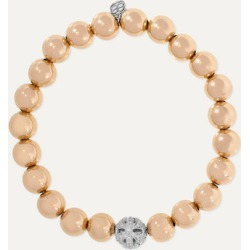 Sydney Evan - Butterfly 14-karat Yellow And White Gold Diamond Bracelet - one size