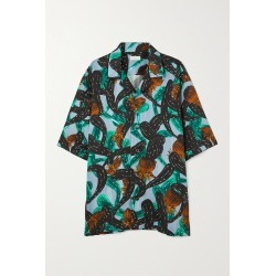 DRIES VAN NOTEN - Cassie Oversized Printed Twill Shirt - Blue found on Bargain Bro India from NET-A-PORTER for $765.00