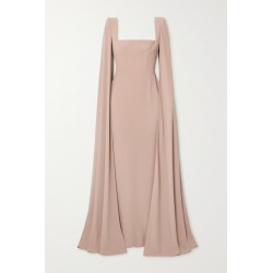 Alex Perry - Auden Cape-effect Satin-crepe Gown - Beige found on MODAPINS from NET-A-PORTER UK for USD $3174.34