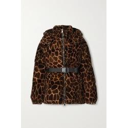 Moncler - Kundogi Animal-print Quilted Cotton-velvet Down Jacket - Brown found on Bargain Bro UK from NET-A-PORTER UK