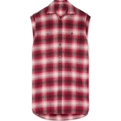 Adaptation - Oversized Checked Cotton-flannel Shirt - Red found on MODAPINS from NET-A-PORTER UK for USD $683.83