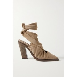 Burberry - Stretch-jersey Pumps - Light brown found on MODAPINS from NET-A-PORTER for USD $390.00
