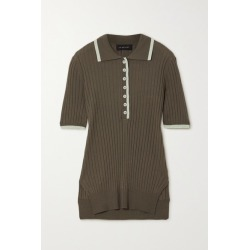 Lee Mathews - Ribbed Tencel Polo Shirt - Army green found on MODAPINS from NET-A-PORTER UK for USD $304.61